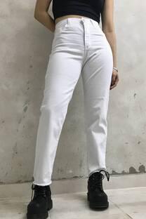 Pantalon Recto Tiro Alto Blanco -