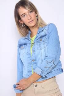 CAMPERA DE JEAN CON TACHAS (HATTIE) -