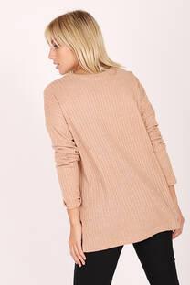 Sweater Espalda Combinada -