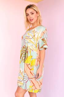 MELI - Vestido de poplin estampado