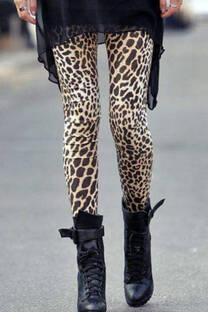 Calza engomada leopardo -