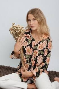 Camisa de lanilla floreada -