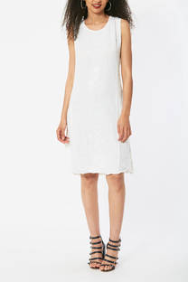 Vestido blanco con bordado -