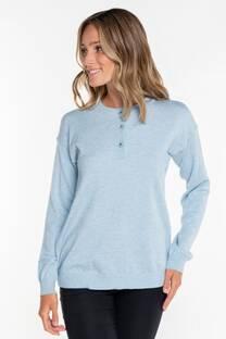 Sweater con tres botones -