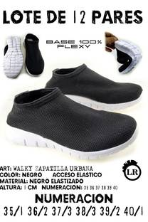 LOTE 12 PARES WALKY NEGRO -
