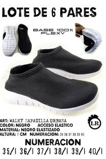 LOTE 6 PARES WALKY NEGRO -