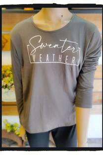 Remera algodon estampada Sweater Weather -