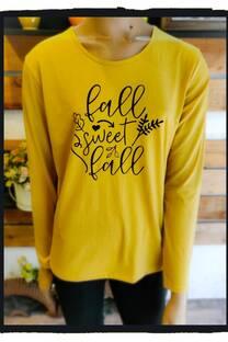 Remera algodon estampada Fall Sweet Fall -