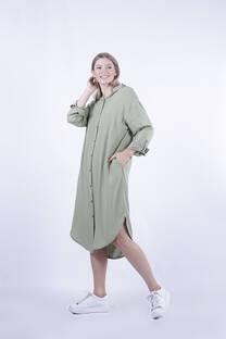 HELGA - Maxi camisa vestido de poplin