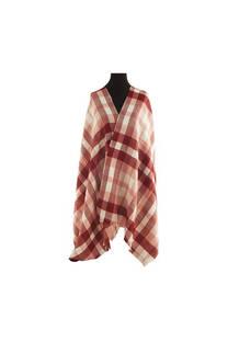 Mantón clásico estampado de lana frizado desflecado color Bordó-rosa viejo- crudo  Medidas: 75 cm x 185 cm. -
