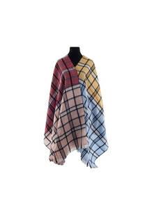Mantón clásico estampado de lana frizado desflecado color Beige-celeste-Rosa viejo-Bordó  Medidas: 75 cm x 185 cm. -