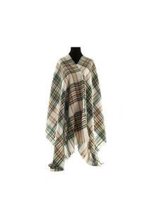 Mantón clásico estampado de lana frizado desflecado color Crudo-beige-rosa viejo  Medidas: 75 cm x 185 cm. -