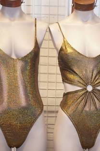 Body engomado dorado -