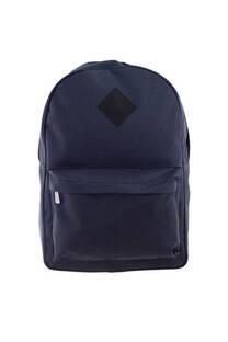 Mochila escolar lisa con doble bolsillo chico interno, bolsillo frontal y tiras regulables.  -