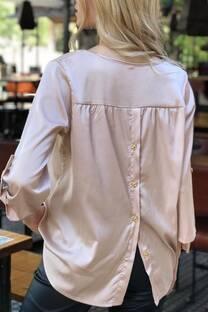 Blusa seda botones en espalda -