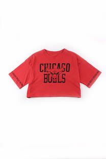 Remera crop chicago bulls -