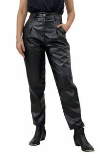 Pantalon MOM eco-cuero -