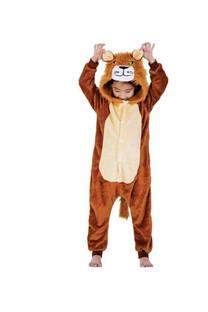 Pijama infantil diseño león.  Material: Peluche extra suave  Color: Marrón.  85 cm 95 cm 105 cm -