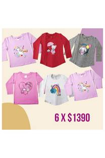 Pack x 6 remeras