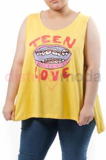 Musculosa Grande Boca Teen Love -
