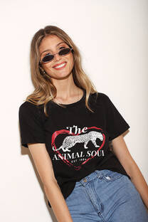Remera Clasica c Estampa Animal Soul  -
