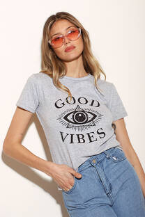 Remera Clasica Good Vibes Ojo  -
