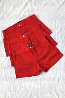 Short Gabardina Oferta Rojo -