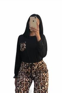 Conjunto pijamas T4 leopardo choco -