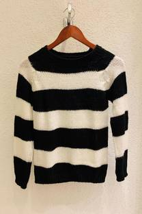 Sweater corto rayado -