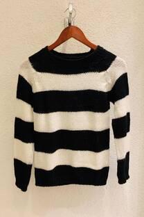 Sweater corto rayado -