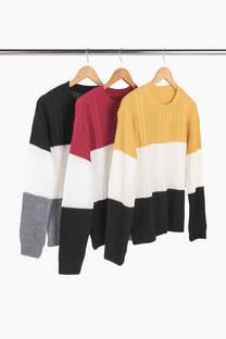 Sweater tricolor -