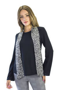 Sweater Wendy con Chal Hojas -