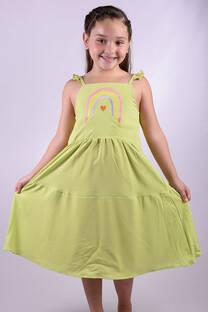 """Vestido Tefy con bordado """"Arcoiris"""" -"""