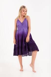 vestido batik con enagua