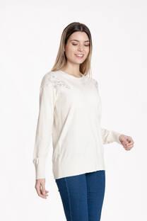 sweater lycra estras en hombro -