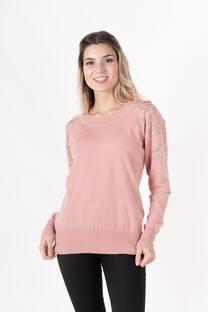 sweater lycra redondo estras hombro -