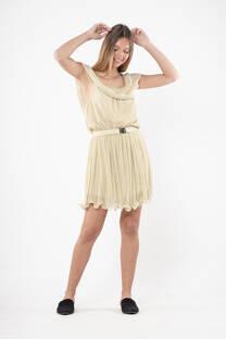 vestido volado con brillo -