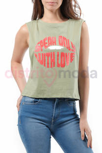 Musculosa Corta Speak Only With Love -
