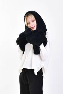 bufanda capucha bolsillo corderito -