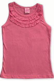 Musculosa de jersey liso con 3 voladitos -