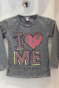 Camiseta basica de Algodon estampa I ME -