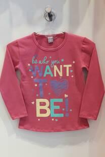 Camiseta basica de Algodon Estamp Whant To Be -