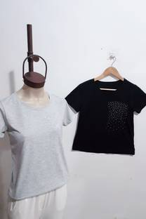 REMERA ENTALLADA HOTFIX BOLSILLO GD -
