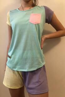 Conjunto de pijama multicolor -