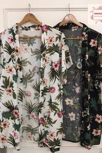 Kimono De Fibrana Estampada -