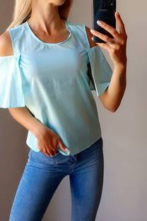 Blusa -Sin hombro- -Fibrana- -