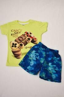 PACK duo Remera línea premium + Short de baño estampado niño -