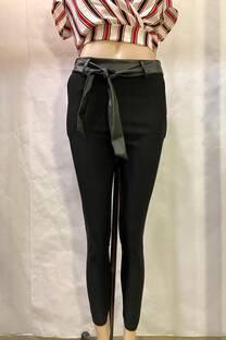 Pantalon Bengalina Con Cuerina Lazo -