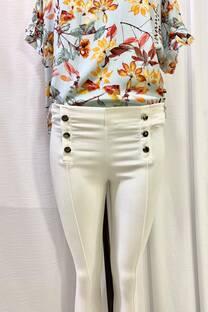 Pantalon Bengalina Botones -