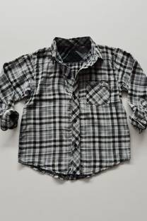 Camisa cuadros bifaz nene -